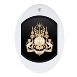 Coat of Arms of Cambodia Oval Ornament