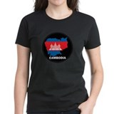 Flag Map of Cambodia Tee