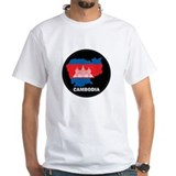 Flag Map of Cambodia Shirt