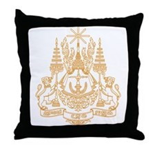 Cambodia Coat of Arms Throw Pillow