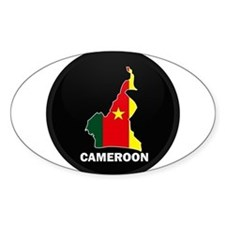 Flag Map of Cameroon Oval Decal