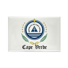 Cape Verdean Coat of Arms Sea Rectangle Magnet