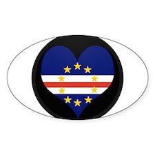 I love Cape Verde Flag Oval Sticker