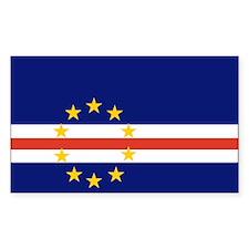 Cape Verde Flag Rectangle Sticker 10 pk)