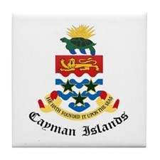 Caymanian Coat of Arms Seal Tile Coaster