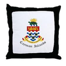 Caymanian Coat of Arms Seal Throw Pillow