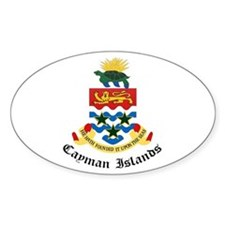 Caymanian Coat of Arms Seal Oval Decal