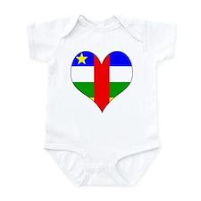 I Love Central African Repub Infant Bodysuit