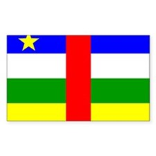 Central African Republic Fla Rectangle Sticker 50