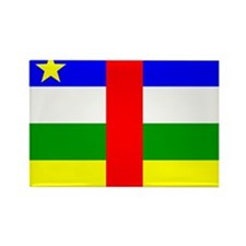 Central African Republic Fla Rectangle Magnet (100