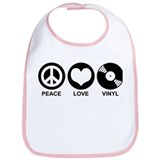 Peace Love Vinyl Bib