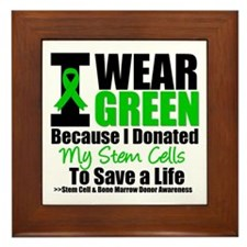 StemCellDonorIWearGreen Framed Tile