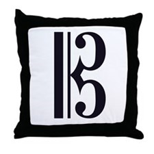 Alto Clef Alone Throw Pillow