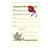 Cute Red hatter Postcards (Package of 8)