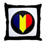 I love Chad Flag Throw Pillow