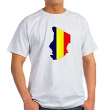 Chad Flag Map T-Shirt