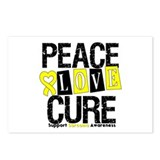 Sarcoma PeaceLoveCure Postcards (Package of 8)