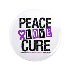 "Pancreatic Cancer Cure 3.5"" Button"