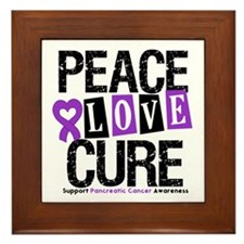 Pancreatic Cancer Cure Framed Tile