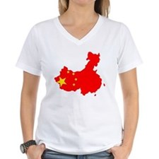 China Flag Map Shirt
