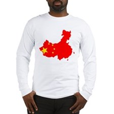 China Flag Map Long Sleeve T-Shirt