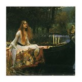 Waterhouse Lady of Shalott Tile Coaster