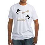 Yarrgh, pirate thoughts! Fitted T-Shirt