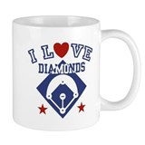 I Love Diamonds Small Mug
