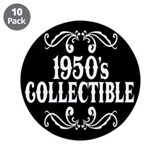 1950's Collectible Birthday 3.5&quot; Button (10 pack)