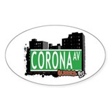 CORONA AVENUE, QUEENS, NYC Oval Decal