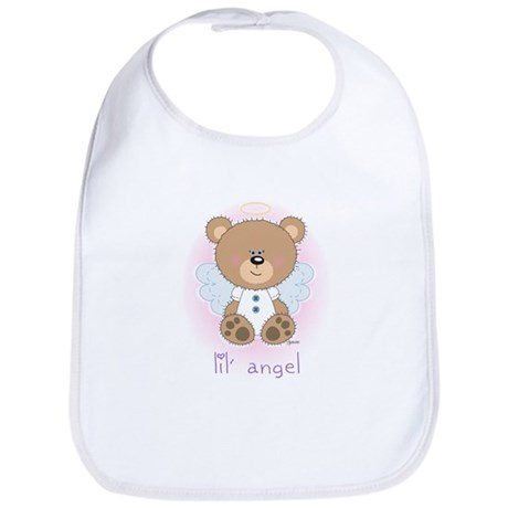 lil' brown bear angel Bib