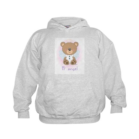 lil' brown bear angel Kids Hoodie