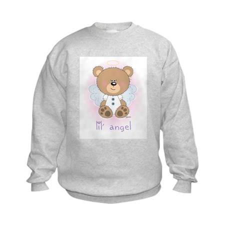 lil' brown bear angel Kids Sweatshirt