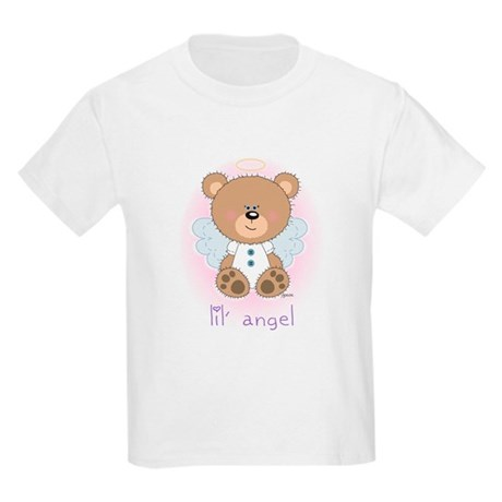 lil' brown bear angel Kids T-Shirt