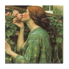 My Sweet Rose by JW Waterhouse Tile Coaster
