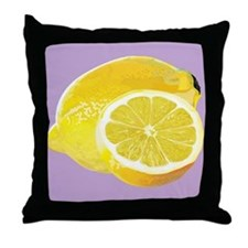 Just Lemons Throw Pillow