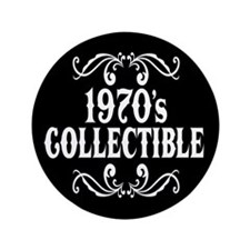 "1970's Collectible Birthday 3.5"" Button (100 pack)"