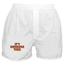 It's Karaoke Time Boxer Shorts