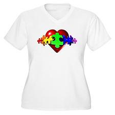 3D Heart Puzzle T-Shirt