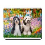 Garden / 2 Bearded Collie Mousepad