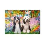 Garden / 2 Bearded Collie Mini Poster Print