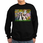 Garden / 2 Bearded Collie Sweatshirt (dark)