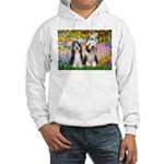 Garden / 2 Bearded Collie Hooded Sweatshirt