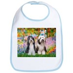 Garden / 2 Bearded Collie Bib