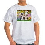 Garden / 2 Bearded Collie Light T-Shirt