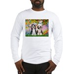 Garden / 2 Bearded Collie Long Sleeve T-Shirt