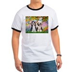 Garden / 2 Bearded Collie Ringer T