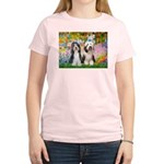Garden / 2 Bearded Collie Women's Light T-Shirt