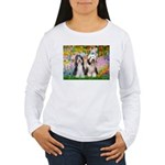 Garden / 2 Bearded Collie Women's Long Sleeve T-Sh