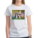 Garden / 2 Bearded Collie Women's T-Shirt